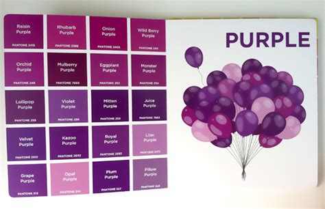 purple color names pantone colors design of the picture book
