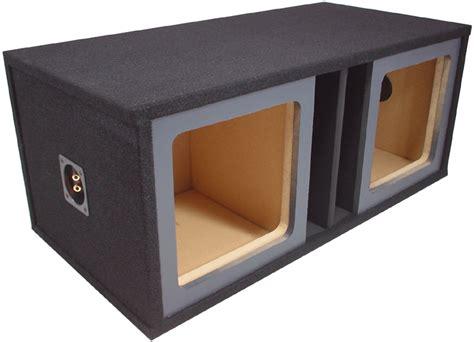 10 x 10 box black juncher design dual 10 quot square cutout painted baffle vented sub box