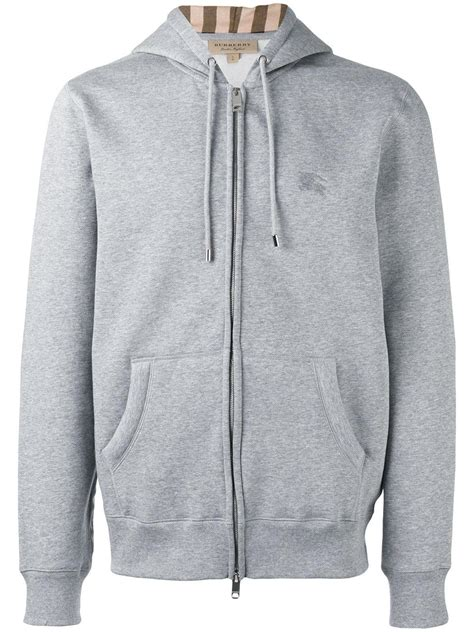 Quincylabel Topman Zipper Grey burberry zip up hoodie cotton polyester l in gray for lyst