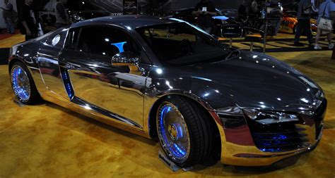 just a car i finally found a car at sema with see through acrylic rims and with a chrome