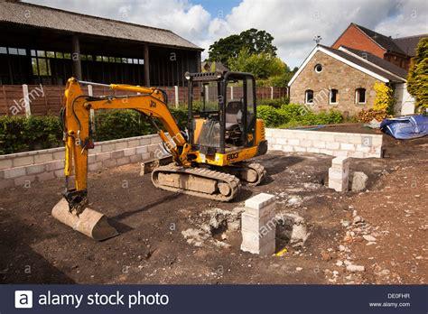 house site self building house preparing site jcb digger preparing