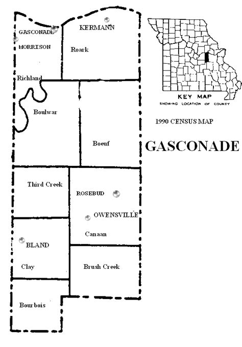 Gasconade County, Missouri: Maps and Gazetteers