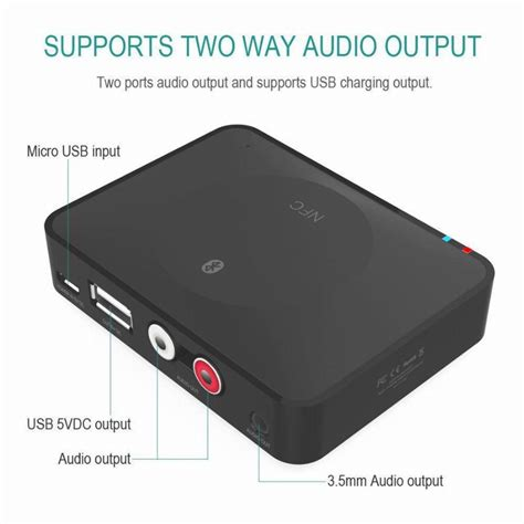 Bluetooth Audio Receiver 3 5mm nfc bluetooth audio receiver wireless audio adapter 3 5mm