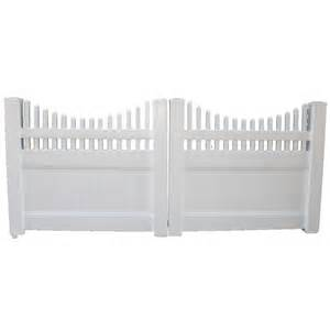 Boundary 6 ft x 8 ft white privacy drive vinyl fence gate at lowes com