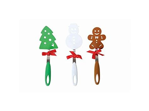 christmas spatula turner set of 3 christmas tree snowman