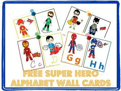 printable superhero alphabet flashcards super hero alphabet wall cards mom iron man and classroom