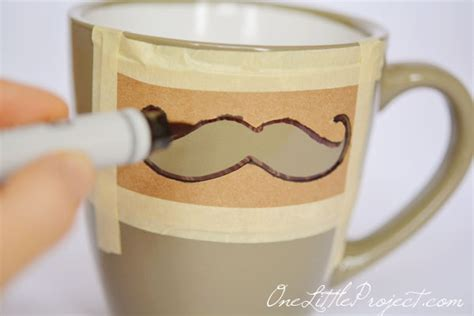 design mug tutorial diy sharpie mustache mugs tutorial