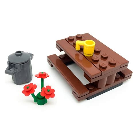 lego storage bench lego picnic garden park table bench with accessories