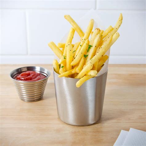 American metalcraft ffc337 3 3 8 quot satin stainless steel french fry cup