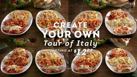 olive garden 2 for 1 olive garden create your own tour of italy tv commercial a ispot tv