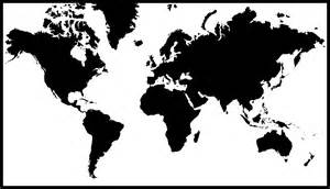 how to draw world map black and white