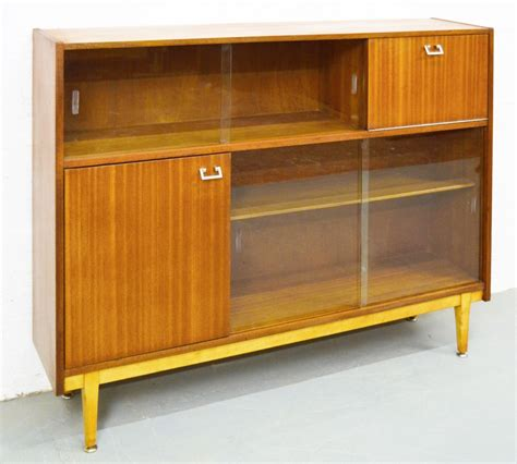 mid century bookcase for sale mid century teak glass bookcase for sale at pamono