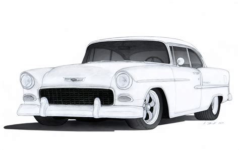 1955 chevy drawings pictures to pin on pinterest pinsdaddy