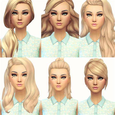 free hair cuts matc current favourite maxis match hair 3 from left to right
