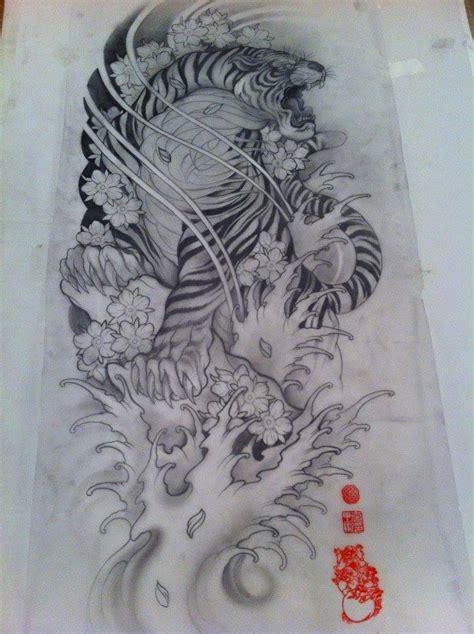 sketchbook japanese tiger sketch ink tiger
