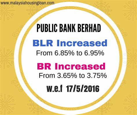 housing loan public bank public bank increased base rate 3 75 malaysia housing loan