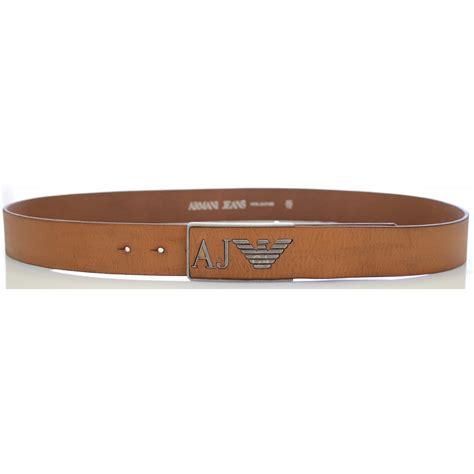 armani v6115 brown leather belt armani