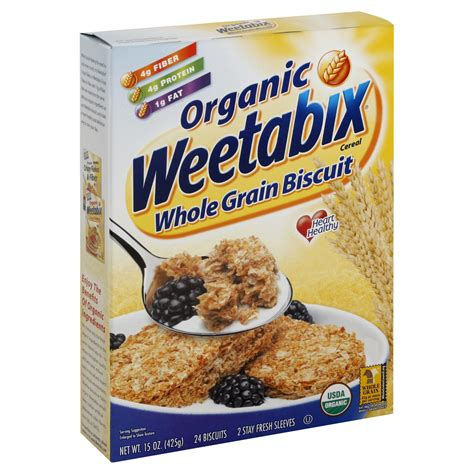 48g whole grains weetabix organic cereal whole grain biscuit 15 oz 425 g