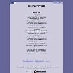 coldplay warning sign lyrics letras guitarra pearltrees