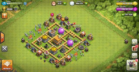 layout coc yang aman thropy base clash of clans th 5 design base clash of
