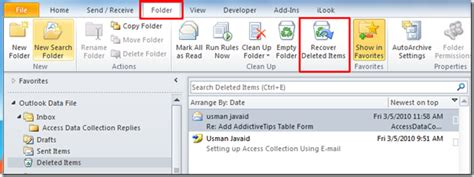 Outlook Not Searching Emails Properly Outlook 2010 Recover Deleted Emails Rajesh S
