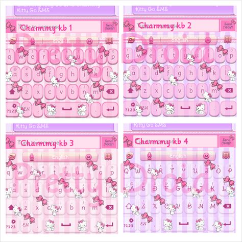 hello kitty themes keyboard charmmy kitty go keyboard skins android themes
