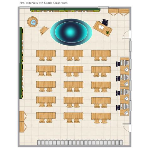Grade School Classroom Layout Classroom Floor Plan Template