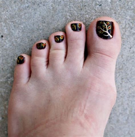 fall pedicure colors inspiring cool fall autumn toe nail designs