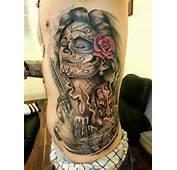 Mexican Candy Skull Tattoo On Side  Tattoobitecom