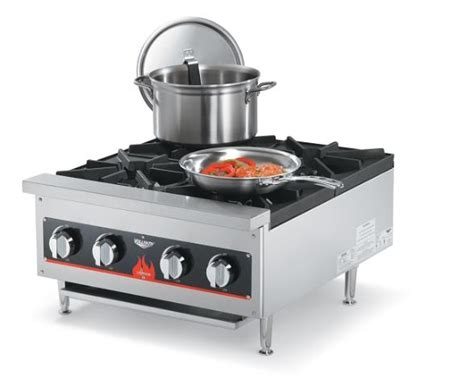 Gas Countertop Range by Vollrath 4 Burner Gas Countertop Range New Ebay