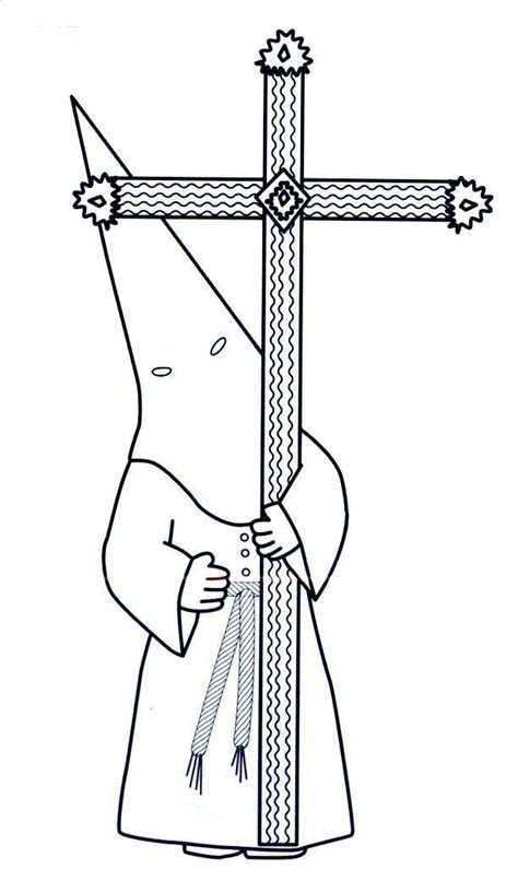 dibujos para colorear dibujos de semana santa dibujo hermano cofrade guia procesion semana santa