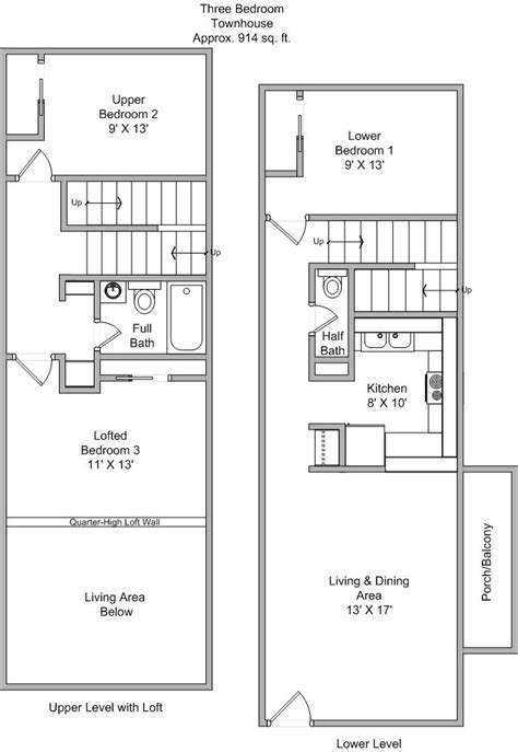 three bedroom townhouse floor plans image 3 bedroom townhouse floor plans download