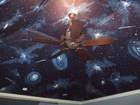 How To Paint A Galaxy Ceiling by Galaxy Ceiling Interior Paint Ideas