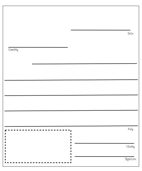 Letter Writing Template Madinbelgrade Writing A Template