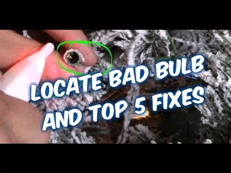 easy ways how to fix christmas string lights bulbs youtube