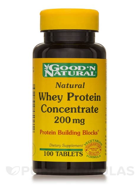 protein tablets whey protein concentrate 200 mg 100 tablets