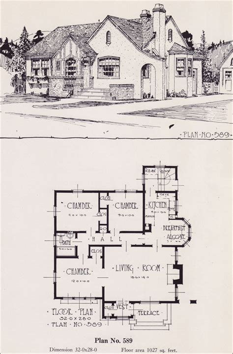 tudor house floor plans 1926 universal plan service no 589 english tudor