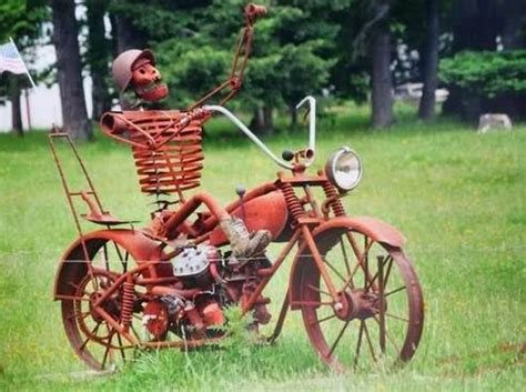 backyard bikers motorcycle yard art harley davidson pinterest yard