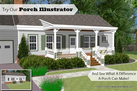 Houses With Front Porches great front porch designs illustrator on a basic ranch