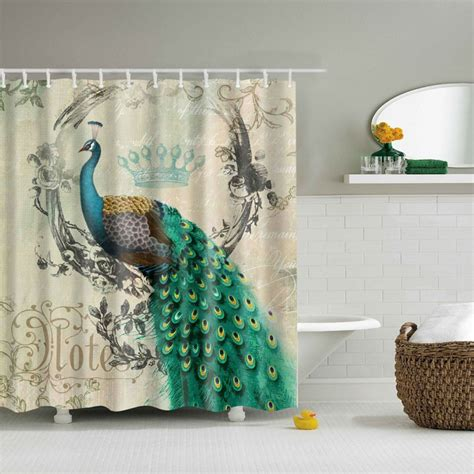 Animal Shower Curtains Animal Printed Design Bathroom Shower Curtain With 12 Hooks 180cm X 180cm Set