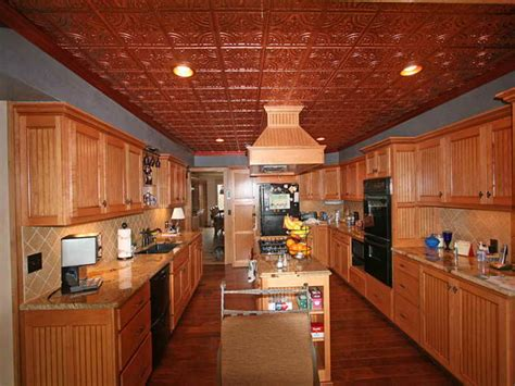 Tin Kitchen Ceiling by How To Repair Plastic Ceiling Tiles That Look Like Tin