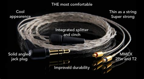 Silvercoated Cable Mmcx Pin With Paracord Sleeving estron linum bax headphone reviews and discussion fi org