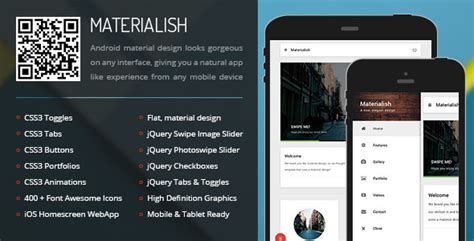 html5 templates for android 30 material design html5 templates available for download