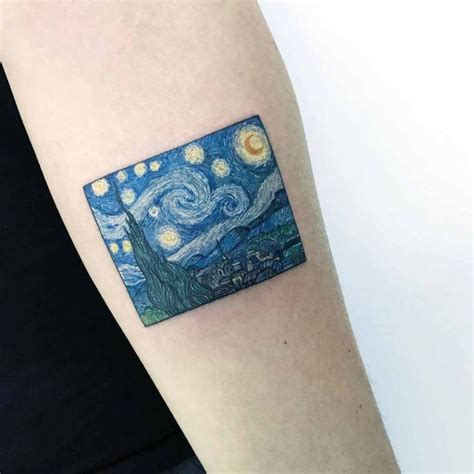 van gogh tattoo vangogh the starry best ideas gallery