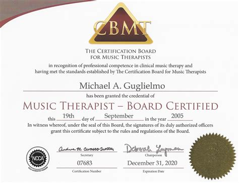 therapy certification about mission of