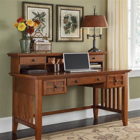 Mission Style Office Desk Mission Style 54 Quot Exec Writing Desk With Hutch Officefurniture