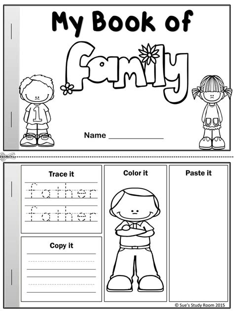 literature themes about family my word book of family members language arts social