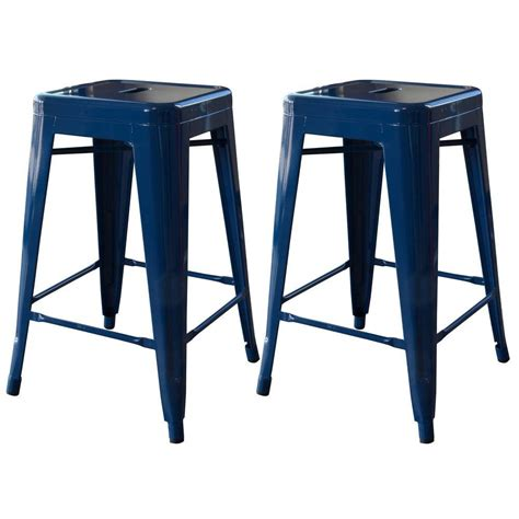 24 Bar Stool Set by Amerihome Loft Style 24 In Stackable Metal Bar Stool In