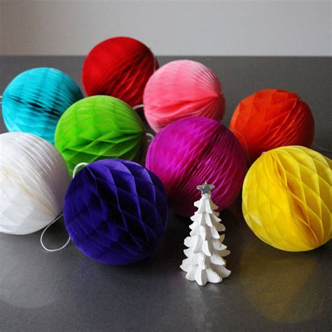Tissue Paper Balls - set of five mini tissue paper luxe balls by pearl and earl