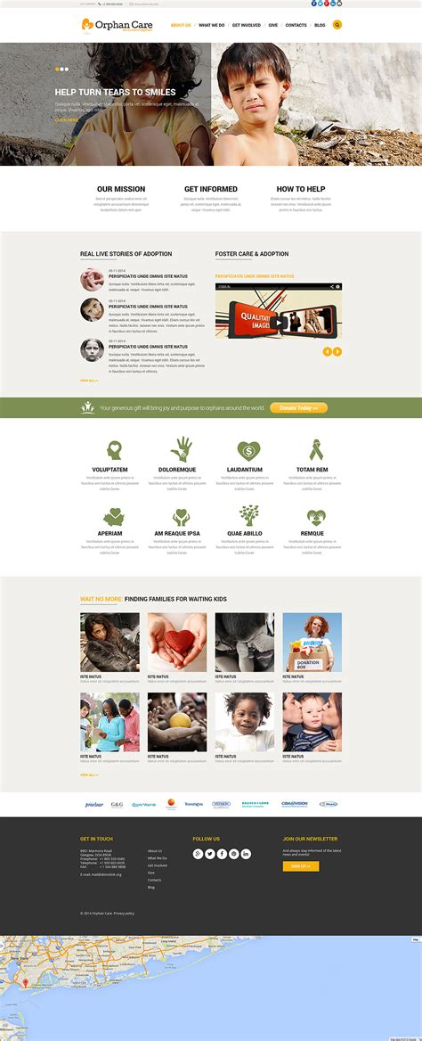 Orphanage Website Templates Free Orphanage Donations Joomla Template 52178